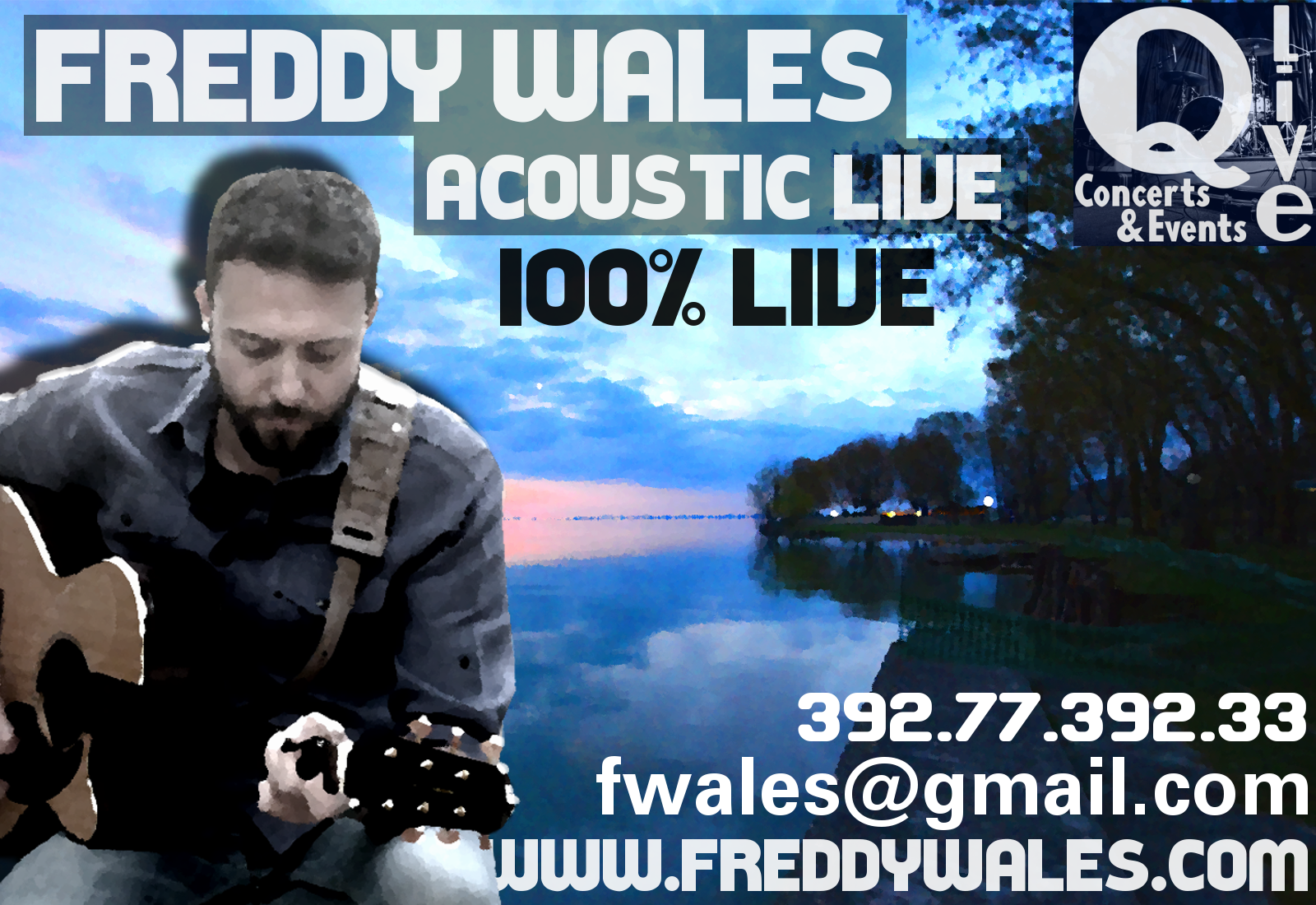 Freddy Wales, Live Acustico 100% Live!!!